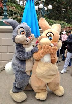 Thumper and miss bunny at Disneyland Paris DLP 2016