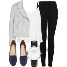 Untitled #3991 by laurenmboot on Polyvore featuring River Island, Joie, Topshop, H&M and Daniel Wellington