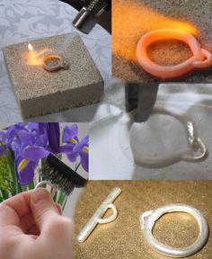 The Art of Metal Clay- tutorial Metal Clay Jewelry, Polymer Clay Jewelry, Jewelry Tools, Jewelry Crafts, Jewelry Making Tutorials, Clay Tutorials, Jewellery Making, Art Clay, Precious Metal Clay