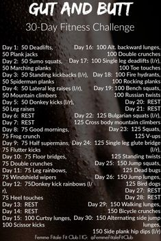 Gut And Butt und Ab-Fitness-Challenge - Girl Boss - Fitness Transformation Squat Challenge, 30 Day Workout Challenge, Thigh Challenge, Fitness Transformation, Fun Workouts, At Home Workouts, Fitness Workouts, Core Workouts, Butt Challenges