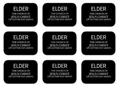 Missionary name tags on pinterest missionary tag for Mormon missionary name tag template