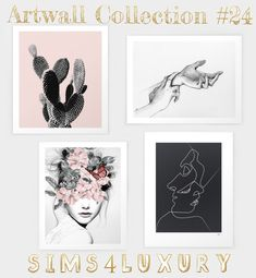 Sims 4 Luxury – Artwall Collection 24 for The Sims 4 - Luxery Sims 4 Mods Clothes, Sims Mods, Sims New, My Sims, Sims 4 Cc Furniture Living Rooms, Living Room Sims 4, Sims 4 Beds, Muebles Sims 4 Cc, Sims 4 Bedroom