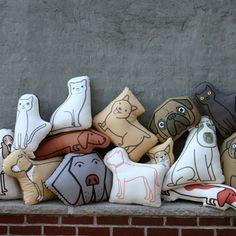 pet-inspired pillows by Aaron Stewart #fab