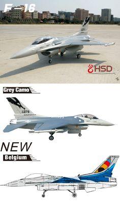 HSD F-16 F16 Grey Camo 105mm EDF PNP With Stabilizer Sale-Banggood.com
