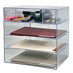 Innovative Storage Designs Desktop Organizer, 9 Compartments, Clear. About  $20. | Adding Decor To A Modern Family Home | Pinterest | Storage Design,  ...