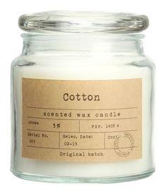 Duftkerze im Glas | Klarglas/Cotton | H&M HOME | H&M DE