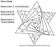 Image result for free iris folding patterns christmas tree