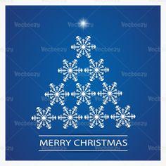 Downloadable snowflake Christmas tree background!