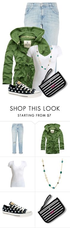 """""""Untitled #21800"""" by nanette-253 ❤ liked on Polyvore featuring Current/Elliott, Abercrombie & Fitch, Wet Seal, Alexis Bittar, Converse and Lands' End"""