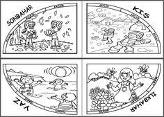 Etkinliğin görüntüsü. İndirmek ve kaydetmek için aşağıdan hemen indir bağlantısına tıklayınız. Preschool Painting, Teaching Weather, Learning Activities, Red Color, Projects To Try, Playing Cards, Jokes, Seasons, Education