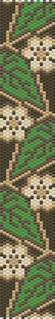 -Схемы для бисероплетения-: Схемы браслетов - мозаичное плетение - free peyote patterns