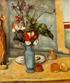 The Blue Vase - Paul Cezanne, French Post-Impressionist Painter (1839-1906)