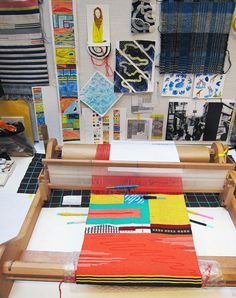 Hannah Waldron-houshi onsen tapestry on the loom
