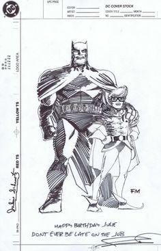 Batman & Robin - Frank Miller for Julius Schwartz's 75th birthday in 1990