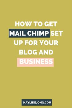 I'm sure by now you know how important it is to have your mail provider set up for your blog and business and begin growing your email list- but do you even have any idea how to set it up? Let me walk you through the tech part of setting up a mail provider with this video tutorial.