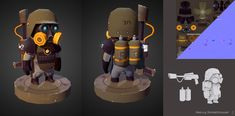 Low poly military miniature. on Behance