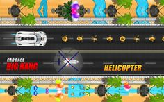 Car Race Big Bang  https://play.google.com/store/apps/details?id=com.gamelezend.CarRaceBigBang 'Car Race Big Bang' is a free Racing Game. Race your car in 6 different tracks. Earn money to unlock rest of 6 race Cars. Use Magnet to collect more coins and Blast opponent cars using Missile feature. 'Repair' your car when car was crashed. Use 'leader board' to save your score and score would be updated when you are online. Share your score and challenge your friends and have a fun.