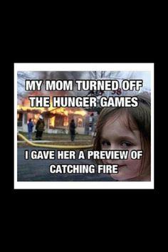 Hunger Games crazed little girl