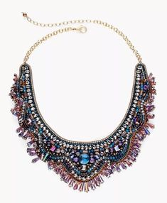 84795ec8 Ursula Bib Statement Necklace by Chico's in rich deep colors GORGEOUS! NWT  $89.