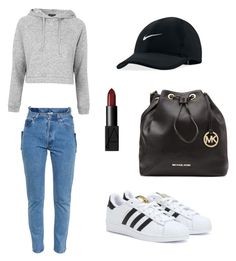 Unbenannt #1 by pel on Polyvore featuring polyvore, fashion, style, Topshop, Vetements, adidas, MICHAEL Michael Kors, NIKE and NARS Cosmetics