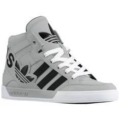 adidas Originals Hard Court Hi Big Logo - Sport Inspired - Shoes - Aluminum/Black/White