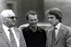 Enzo Ferrari, Nikki Lauda & Luca Montezemolo