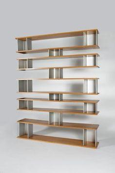 "Charlotte PERRIAND, bibliothèque ""Type Plots"", 1956"