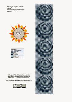 KIKI GYÖNGYEI: Örvények peyote karkötő minta - pattern