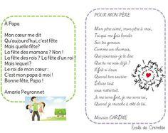 Poésies pour Papa - L'école de Crevette