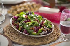 Pear & Pomegranate Salad. Try this salad recipe from Publix for Christmas dinner.
