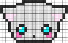 Cute Cat Perler Bead Pattern / Bead Sprite