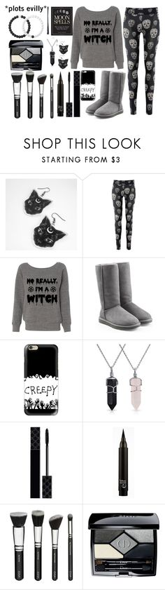 """""""†Witchy Vibes†"""" by exotic-demon-wolf ❤ liked on Polyvore featuring UGG Australia, Casetify, Bling Jewelry, Gucci, Christian Dior, Lokai and E.vil"""
