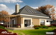 tyle kasy do zmarnowania House Plans, Pergola, Garage Doors, Mansions, House Styles, Outdoor Decor, Home Decor, Draw, Decoration Home