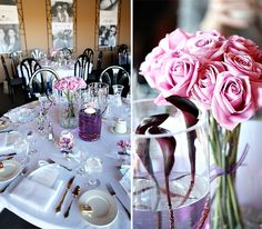 Purple Wedding Ideas For Tables | ... photos of a recent bridal shower with a purple and blue color palette