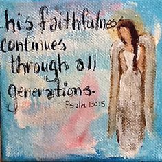 Original Angel Painting with Scripture His by Florinda on Etsy