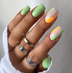 Mint Nails, Gel Nails, Stylish Nails, Trendy Nails, Diy Your Nails, Nail Tip Designs, Summer Toe Nails, Cute Toe Nails, Manicure Y Pedicure