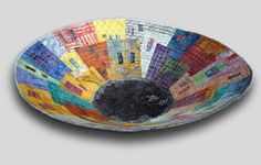 Hilde Morin - Fiber art Quilting Projects, Art Projects, Project Ideas, History Of Textile, Fabric Bowls, Paper Bowls, Beauty In Art, Landscape Quilts, Contemporary Quilts