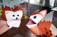 Printable Woodland Animals Cootie Catchers – Origamis for kids – Lalelilolu Studios St Patricks Day Crafts For Kids, St Patrick's Day Crafts, Paper Crafts For Kids, Arts And Crafts, Kid Crafts, Forest Animals, Woodland Animals, Origami Fortune Teller, Owl