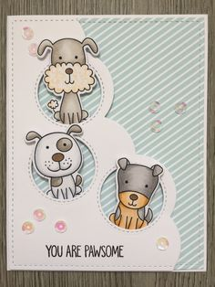 'four legged friends' stamps & dies by MFT - all supplies available in our shop  www.cs-getcrafty.com