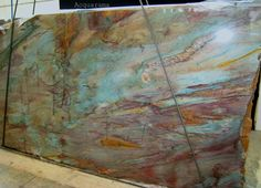 Copper And Torquoise Kitchen Backsplash