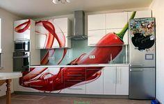 Splashback, Glass Kitchen, Closet Storage, French Door Refrigerator, Cabinet Doors, Bunk Beds, Kitchen Appliances, Kitchens, Furniture