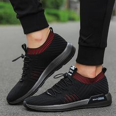 Weweya Hot Sale Jogging Running Shoes For Men Sport Training Sneakers Black Breathable Mesh Athletic Shoe Comfortable Zapatillas Best Sneakers, Casual Sneakers, Sneakers Fashion, Casual Shoes, Sneakers Design, Skechers Sneakers, Adidas Sneakers, Cheap Running Shoes, Training Sneakers