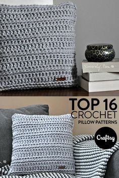 Redecorate your home with one of our top 16 crochet pillow patterns.