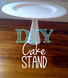 Laughably Simple DIY Cake Stand for $1.38 - looks just like the Pottery Barn one!