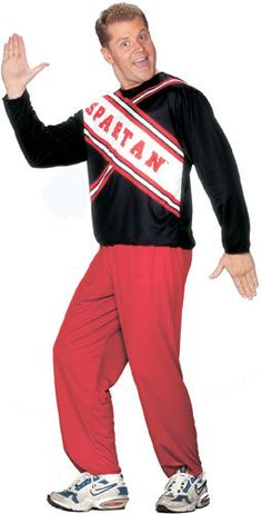 Spartan Male Cheerleader from SNL Halloween Costume #FunWorld #CompleteCostume