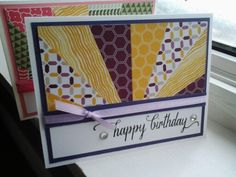 Starburst card made using stampin ups moonlight designer series paper