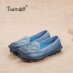 Outfit Accessories | Tastabo Original Handmade Genuine Leather Women Shoe Comfortable Cowhide Loafers Real Skin Shoes Retro Ladies Flat Shoe |  | Touchy Style | 03 / 9 | touchystyle.myshopify.com