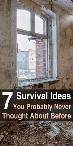 I really enjoyed this article I found on Listverse. The author lists a bunch of survival ideas that might not have occurred to you.