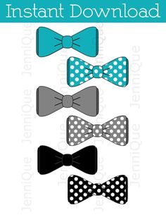 Printable Bow Tie, Bow Tie Cut Outs, Bow Tie Baby Shower Decoration, 1st…
