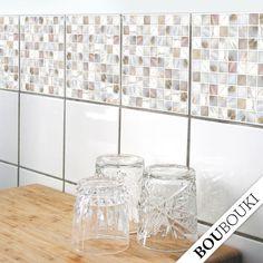 ORIGINAL BOUBOUKI Mosaic Sticker/Tile decals for Bath or Kitchen